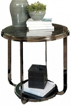 """Black FauxMarble End Table by """"Famous Brand"""" Furniture . $172.85"""
