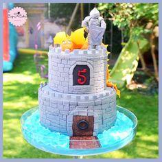 Gâteau sur le thème Château fort