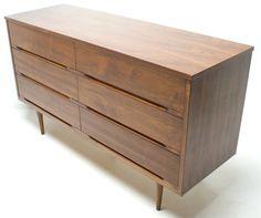 60s Mid Century Danish Modern Furniture Walnut by thevintedgeco