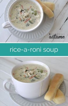 easy creamy chicken and wild rice a roni soup recipe - everybody loves this!