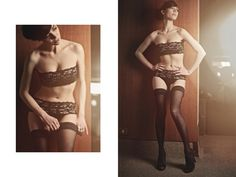 The body is wrapped in a soft and black lace, full of  ivory highlights.  Upper band doubled to ensure a comfortable feel on your skin. Low rise knicker with band applied on to give softness on the hips - Elastic and seams are hidden, French Seams – Fabric: elastic lace    Tailored Finishing for all the item, handcrafted in Italy in limited and coded edition to offer You the exclusive pleasure of a unique lingerie.    Matched accessories available: Night Mask; Garter; Bracelet