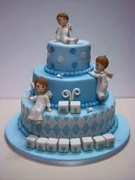 Resultado de imagen de tortas de bautizo niño