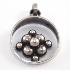 Erik Granit, Vintagr Sterling Silver Modernist Ball Bead Pendant. #Finland | Ebay