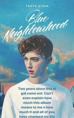 Blue neighborhood birthday, Troye sivan on instagram, instagram story