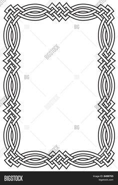 Stock Vector By Theresa Knight Celtic Symbols, Celtic Art, Islamic Art Pattern, Pattern Art, Celtic Border, Celtic Quilt, Certificate Design Template, Celtic Knot Designs, Celtic Patterns