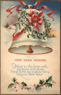 new year wishes series 1155c filled to the brim with gladness and cheer ring forth