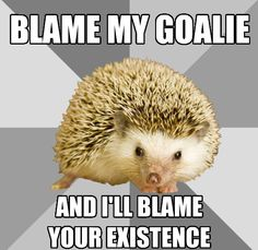 hahaha players are soooo protective of their Goalies... i think its cute!!