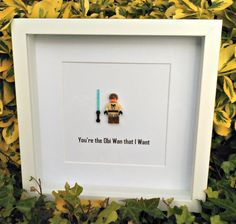 Obi Wan Brick Figure Art You're the Obi Wan by DanMakesWithLove