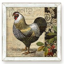 Urban Farmhouse French Country Rooster II Framed Painting Print