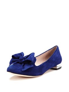 Suede Bow Loafer by Miu Miu at Gilt