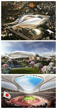 Zaha Hadid's Tokyo Olympic stadium to be scaled back Amazing Buildings, Tokyo Olympics, Zaha Hadid, Far Away, Architecture, Marina Bay Sands, Kerala, Landscape, World