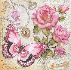 Схема вышивки «бабочки и цветы» - Вышивка крестом