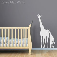 Childrens Giraffe Wall Decal  Jungle Safari by JaneyMacWalls, $40.00