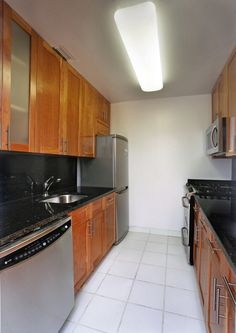 All homes have dishwashers in these modern kitchens at the Villager apartments.