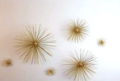 Try It Today: DIY, 3D Art Ideas for Bold, Textured Walls! You can apply a texture idea to Mid-Century Style with these 3D Starburst Orbs via HGTV Handmade.