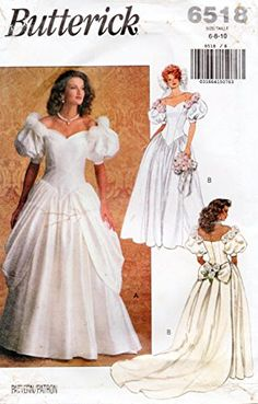 Butterick 6518 Vintage Wedding Gown and Brides Maids Dres... https://www.amazon.com/dp/B01N5M70B1/ref=cm_sw_r_pi_dp_x_AoZUybF4WSENN