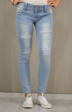 Γυναικείο τζίν skinny ξεβαμμένο PANT-5059   Γυναίκα Jeans &