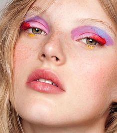 E Y E S #love #makeup #beauty #colourful #rainbow #girl #model #