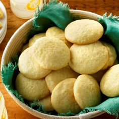 These tender, soft sugar cookies have just a hint of lemon. If you like more lemon flavor go ahead and kick it up a notch. It's also fantastic made with orange instead. —Nancy Foust, Stoneboro, Pennsylvania