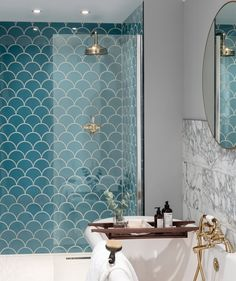 Blue tiles at Topps Tiles. Suitable for walls & floors in a range of materials. Express and 24 hour home delivery available. Bathroom Floor Tiles, Downstairs Bathroom, Bathroom Renos, Bathroom Ideas, Serene Bathroom, Shower Tiles, Bathroom Remodeling, Bathroom Colours, Colourful Bathroom Tiles