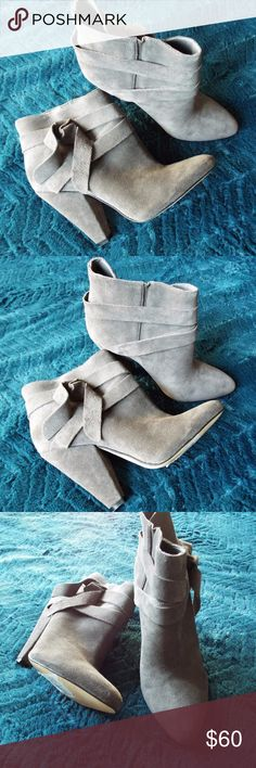 GRAY SUEDE NINE WEST ANKLE BOOTS NINE WEST ANKLE BOOTS, SUPER CUTE TO PAIR WITH A DRESS OR JEANS! NWT NO BOX Nine West Shoes Ankle Boots & Booties