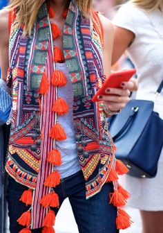 Love all that fab color and who doesn't love tassels