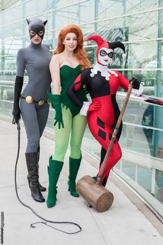 Catwoman (Adrianne Curry), Poison Ivy (Amanda Lynne Shafer) & Harley Quinn (Lauren Matesic Bregman) - Erik Estrada