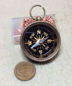 $6 steampunk real working compass by mkpdestash on Etsy