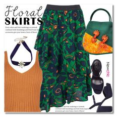"""The Perfect Summer Floral Skirt"" by svijetlana ❤ liked on Polyvore featuring Brooks Brothers, floralskirt, polyvoreeditorial and lovenewchic"