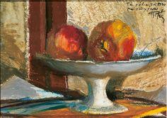 Still Life - Panayiotis Tetsis Post Impressionism, Impressionist Art, Greece Painting, Roman Art, 10 Picture, Greek Art, Art Database, Still Life, Design Elements