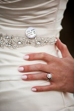 White/neutral colored nails as a french manicure alternative.