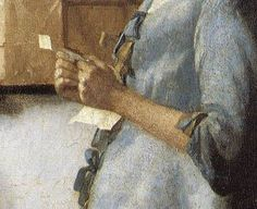 Johannes Vermeer, Woman in Blue Reading a Letter (detail), 1663-64