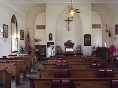 Inside of Little Brown Church, Nashua IA Was married here in March of 1985 to my first husband COOL CHURCH