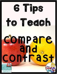 Tips to Teach Compare and Contrast Lots of great tips to help you teach compare and contrast.Lots of great tips to help you teach compare and contrast. 4th Grade Reading, Kindergarten Reading, Teaching Reading, Teaching Ideas, Learning, Math Activities For Kids, Reading Activities, Reading Strategies, Reading Skills