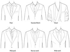 Lapels - so many different styles - know the difference!