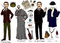 Sherlock Holmes paper doll by rum-inspector on deviantART http://cor104.deviantart.com/art/Sherlock-Holmes-paper-doll-104381614