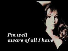 Mariah Carey - Looking in (lyrics)  My favorite song