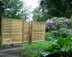 Wonderful Lattice Screen Designs : Portland Patio Traditional Exterior With Wood Lattice Fence Gossamer Fabric Privacy Screen Outdoor, Privacy Panels, Backyard Privacy, Backyard Fences, Privacy Fences, Privacy Trellis, Fence Slats, Balcony Privacy, Gabion Fence