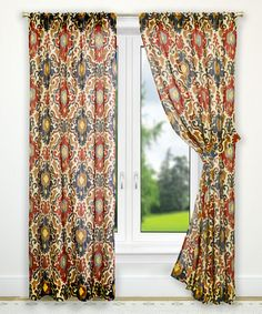 Look what I found on #zulily! Red Tuscany Tailored Curtain Panel - Set of Two #zulilyfinds