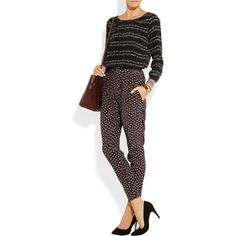 5ddc4ff3d422 Girl. by Band of Outsiders Rosebud-print silk crepe de chine pants Band Of
