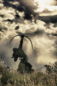 Native american Sacred Rain Arrow HDR bow and arrow