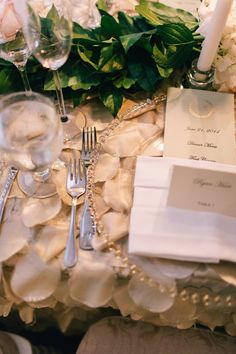 Romantic Table Settings | Nikki Santerre Photography | TheKnot.com