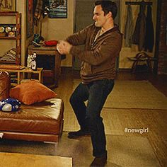 New Girl! (nick-miller-dancing-gif, plus link to True American rules)