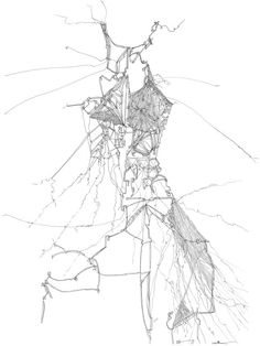 Limited Edition Illustration........Deconstructed Dress