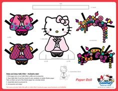 hello kitty NuGeisha version PAPER DOLL