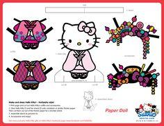 hello kitty NuGeisha version PAPER DOLL