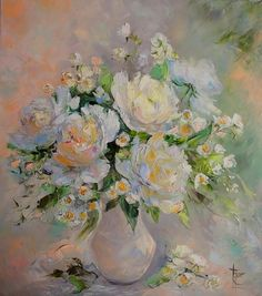 Ostraya Elena. White bouquet.
