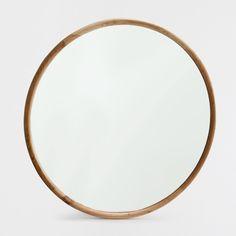 Изображение 1 товара Круглое зеркало в раме из натурального дерева
