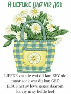 Morning Blessings, Good Morning Wishes, Good Morning Quotes, Granny Square Crochet Pattern, Crochet Patterns, Lekker Dag, Good Morning Inspiration, Afrikaanse Quotes, Goeie Nag