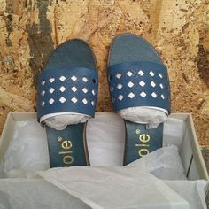 Flat comfortable Blue Sandals Thick sole cushion Shoes Sandals